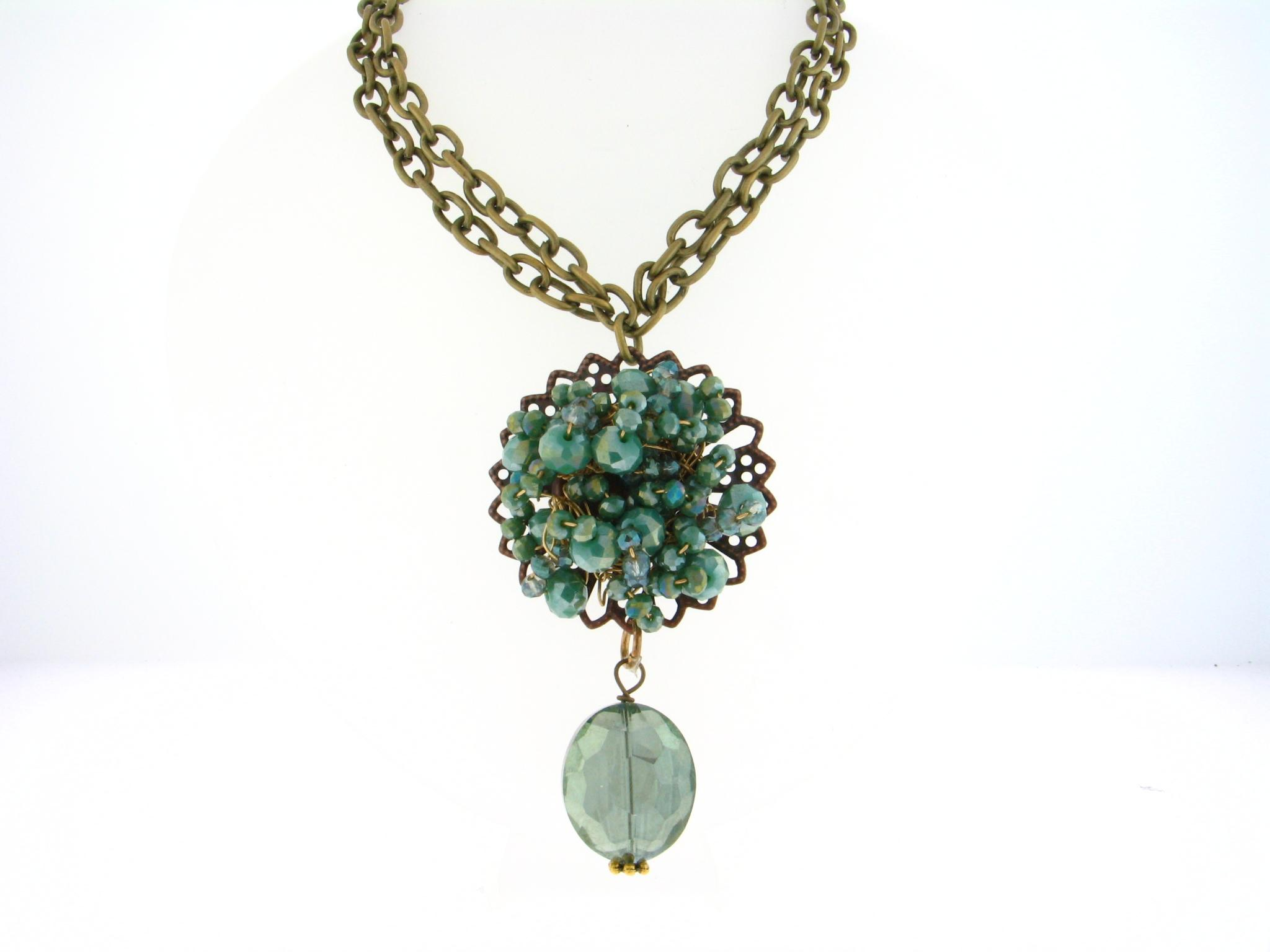 Filigree Flower Power- With Pacific Opal Crystal