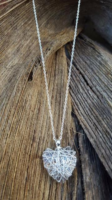 Style #0182 Wire-wrapped Swarovski Crystal Heart